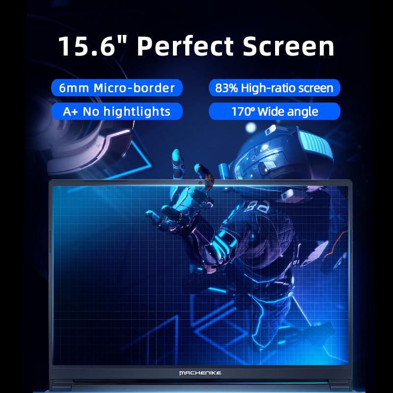 Machenike T90 T58 Gaming Laptop intel i7 10th Gen 15.6 FHD Laptop GTX1650 Computer Laptops 16G RAM 512G SSD 1T HDD Notebook IPS