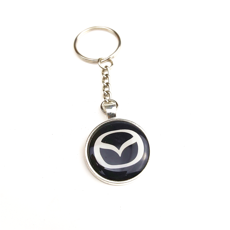 CAR Auto Emblem Car Keyring Case For Mazda 2 Mazda 3 MS For Mazda 6 CX-5 CX5 Car-Styling Badge Accessories 1pcs
