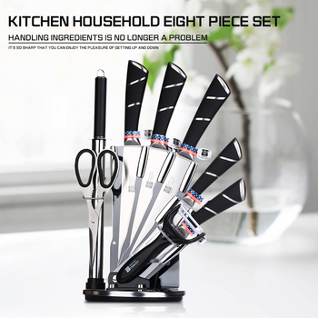 High Quality Kitchen Knife Set 440C Carbon Stainless Steel Utility Cleaver Chef Bread Knives Dining Bar Accessories