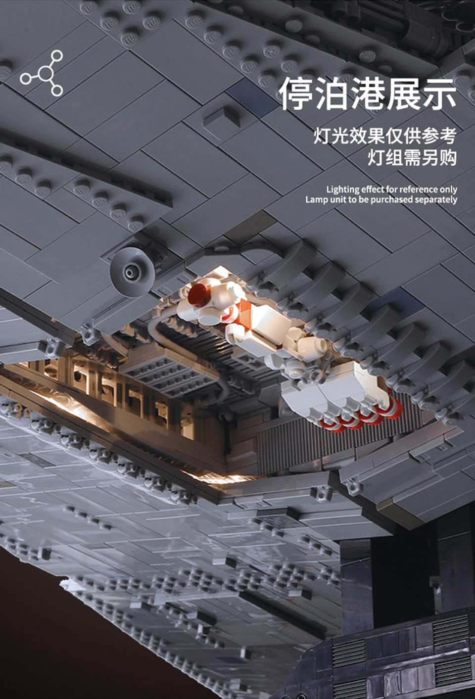 MOULDKING 13135 Imperial Star Destroyer ISD Monarch Compatible MOC 23556