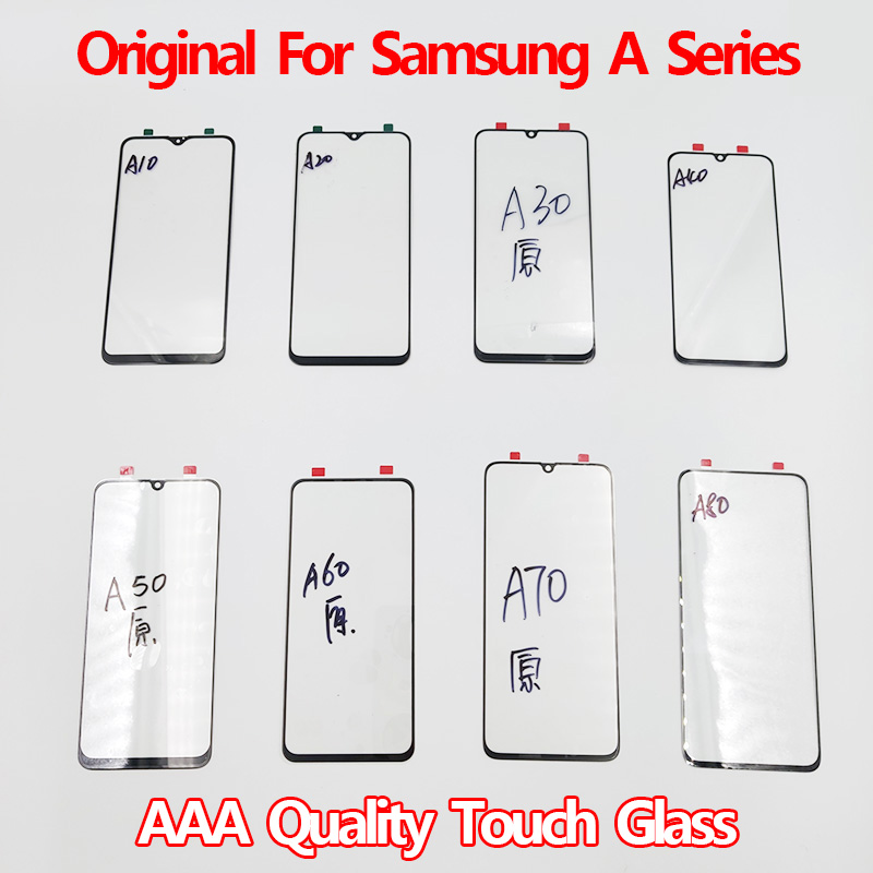 Original Touch Screen Glass For Samsung Galaxy A10 A20 A30 A40 A50 A70 Touchscreen LCD Display Outer Glass Lens Replacement Part