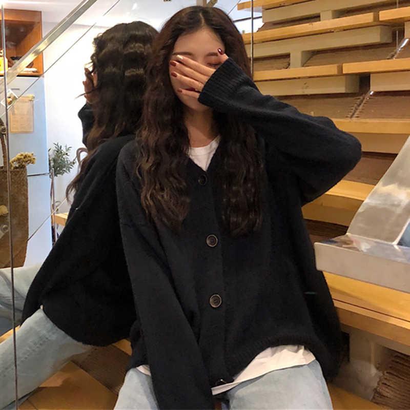 Otoño Cardigan Mujer suéter de punto suéteres de moda invierno chaqueta inferior ropa caliente Sueter Mujer 1005