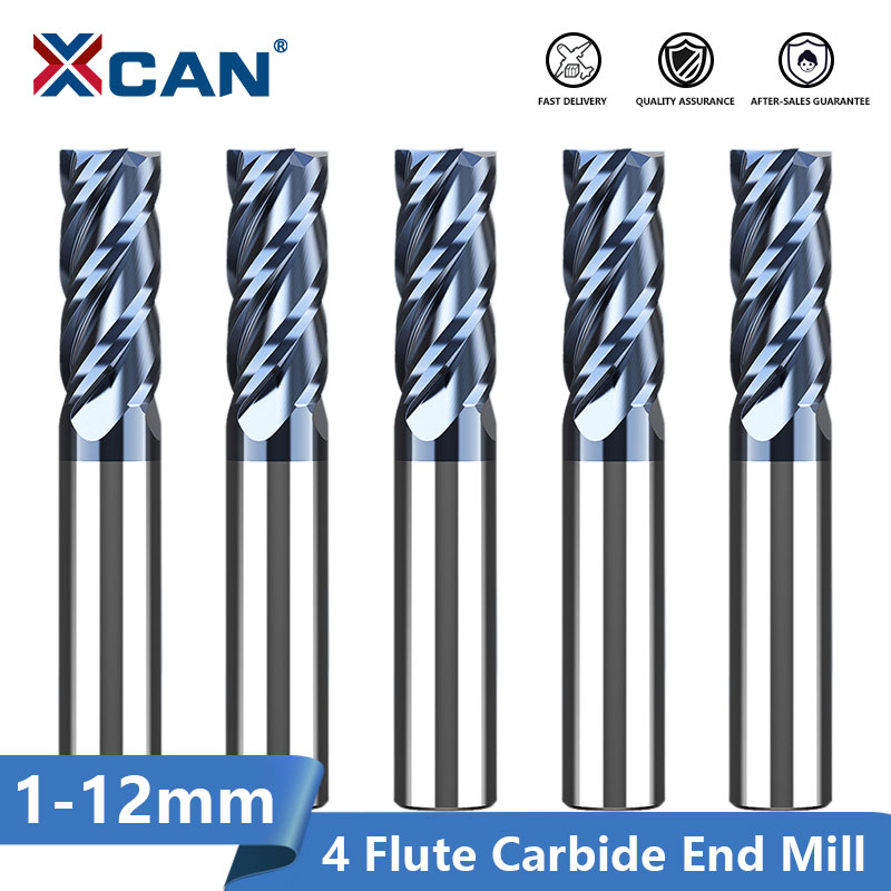 12mm HRC50 4 Flutes Solid Carbide End Mill Milling Cutter CNC Router Bits Tools