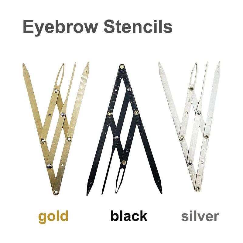 1pcs Microblading Accessories Eyebrow Ruler Golden Ratio Caliper Measuring Tools Eyebrow Stencil For Permanent Makeup Supplies
