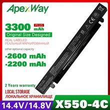 Apexway A41 X550A A41 X550 Battery For Asus A450 X550L A550 a41 x550a F550 F552 X450 X550 X550A X550CA X550C K550 P450 P550 R409