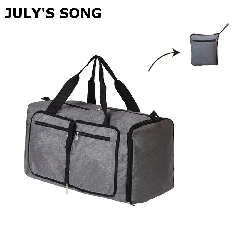 JULY'S SONG Foldable Travel Bags Waterproof Large Capacity Travel Storage Bag Portable Clothes Shoes Organizer Fitness Handbags