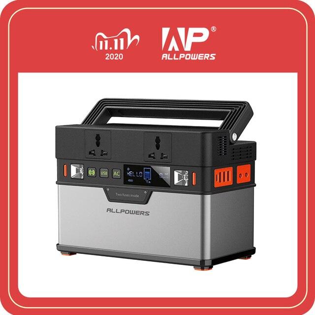 ALLPOWERS 110V 220V AC 발전소 순수 사인파 휴대용 발전기 전원 자동차 냉장고 TV 드론 노트북