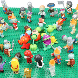 Image 5 - 20 PCS Plants vs Zombies Figures Building Blocks PVZ Action Figures Dolls Game Brick Toys For Children Collection Toys For Adult