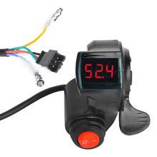 E-bike kciuk wyświetlacz przepustnicy wyświetlacz LCD wyświetlacz cyfrowy napięcie baterii wyłącznik zasilania pojazd elektryczny palec kciuk przepustnicy e-bike tanie tanio CN (pochodzenie)