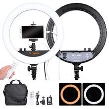Fosoto FT 240RL 14 Inch Fotografische Licht 240 Leds Ring Licht 48W Ring Lamp Met Afstandsbediening Voor Camera Telefoon Video foto Studio