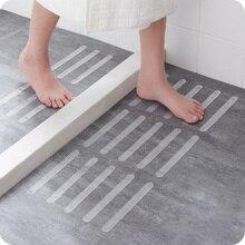 5pcs Stair Steps Anti Slip Tape Self-adhesive Bathroom Shower Rubber Transparent Anti-slip Waterproof Strip Bathroom Supplies