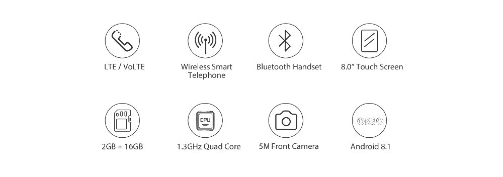 H35d1c29991a24fb7bf7705a7e1a95611C - 2020 New Poptel V9 videophone 8 inch 2g/16g bluetooth handset for home and office  IOT device tablet phone support Google play
