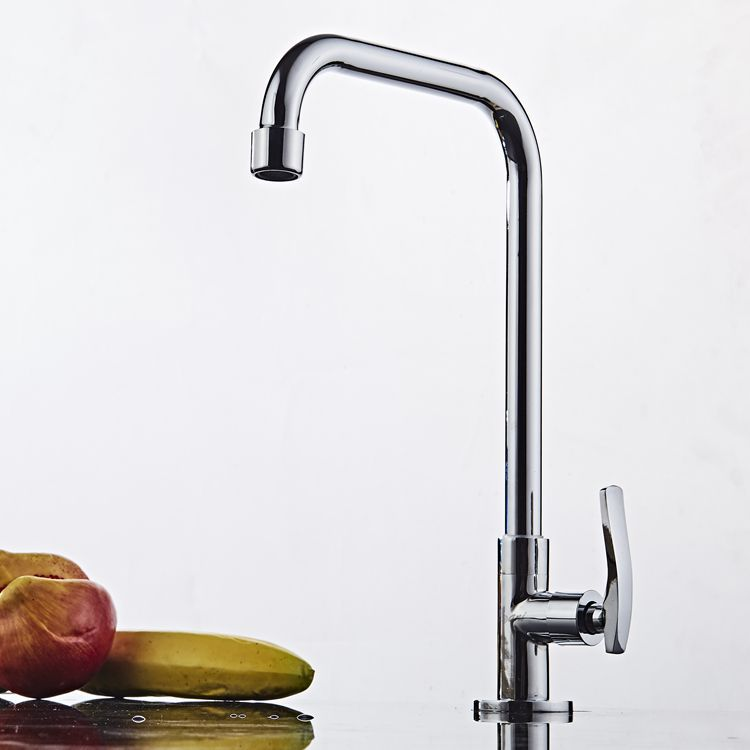 Sink Faucet Wholesale Special Offer Copper Kitchen Faucet Chrome-Plated Silver Single Cold Da Wan Guan Tap