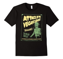 Vegan Shirt Attack of Zombie T for Vegetarian Tee Cool Funny T-Shirt Men High Quality Tees Summer Short Sleeves