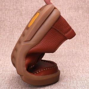 Image 5 - Chaussures en cuir naturel fait à la main pour hommes, respirantes de grande taille 11 12 13, mocassins de luxe de styliste, chaussures décontractées