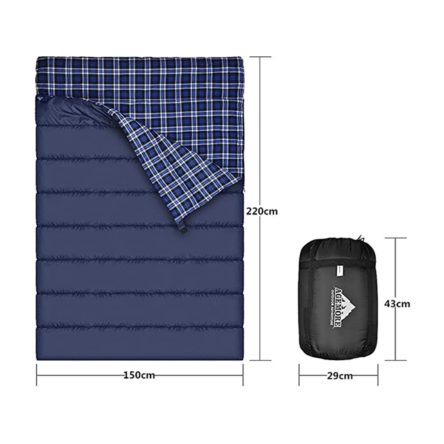 Agemore Flannel Double Sleeping Bag 1