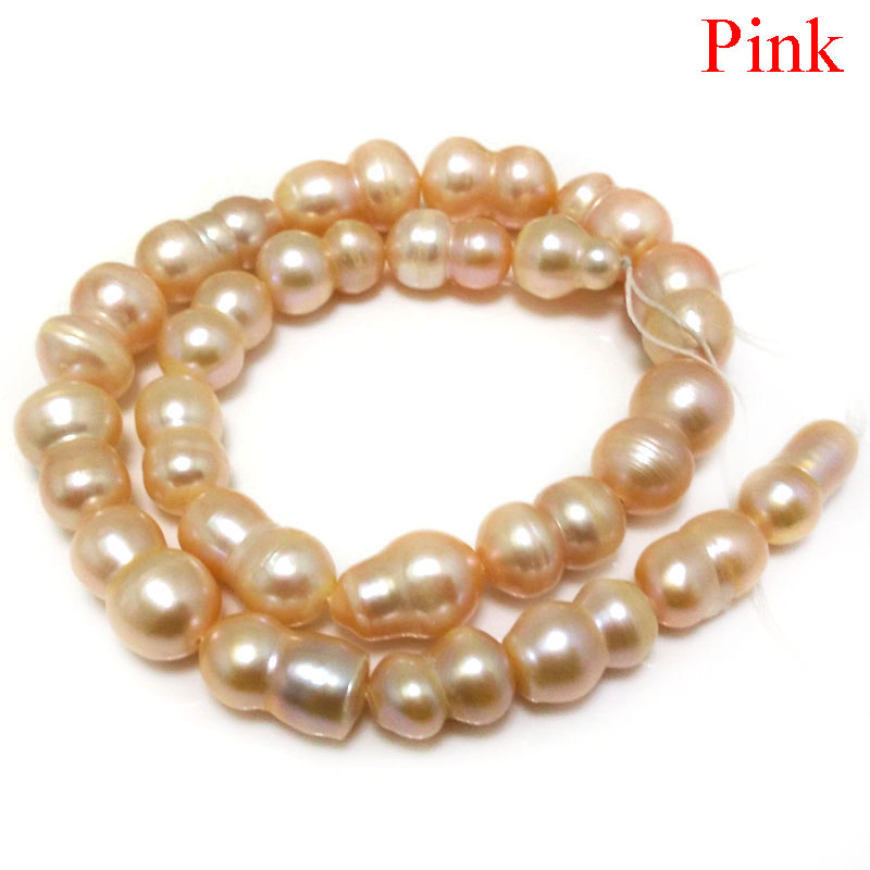Lot 10 8mm-10mm White Freshwater Potato Irregular Pearls Loose Side-Drilled Bead