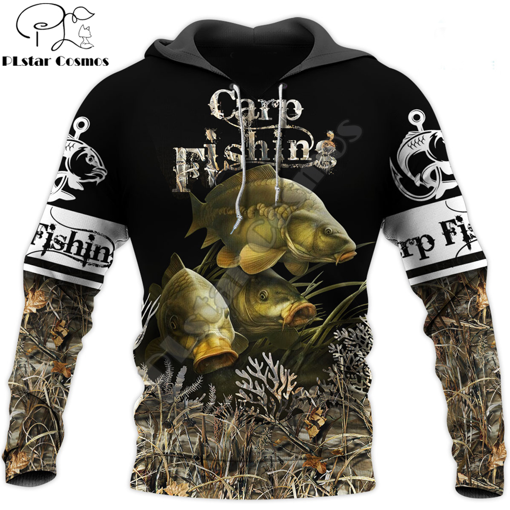 animal Carp Fishing 3D All Over Printed Men Hoodie Harajuku Fashion Sweatshirt Unisex Casual Jacket Pullover sudadera hombre