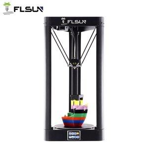 Image 1 - FLSUN QQ S PRO 3D 프린터 사전 조립 델타 Kossel 터치 스크린 Wifi 모듈 대형 인쇄 크기 255*255*360mm