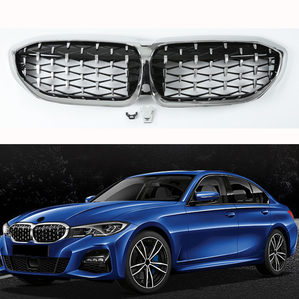New Diamond Style Grill For BMW 3 Series G20 Racing Grills Front Kidney Grille