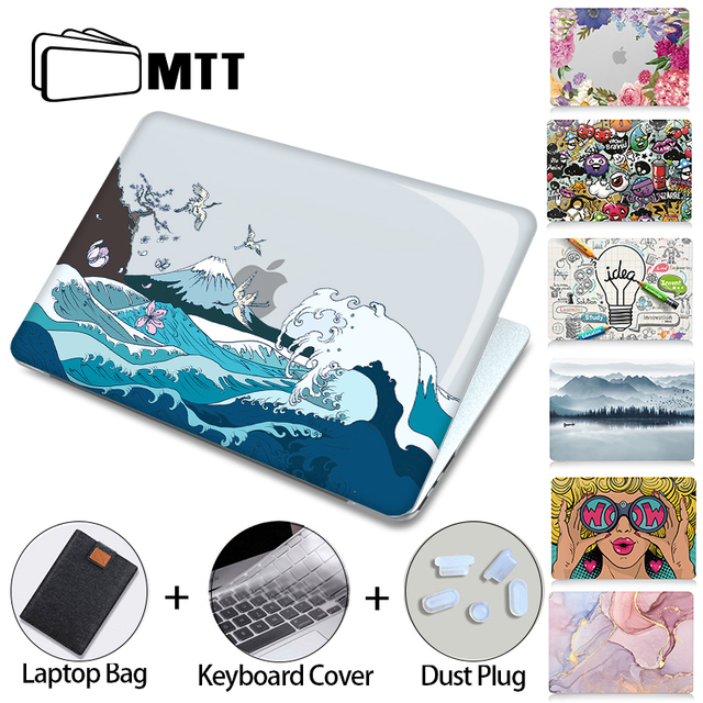 MTT Crystal Case For Macbook Air Pro 11 12 13 15 16 inch With Touch ID 2020 Plastic Hard Cover Laptop Bag a2289 a2251 a2179