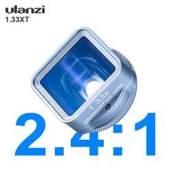 Ulanzi 1.33XT Anamorfico Del Telefono Lente Sacchetto Filtro Kit per Il Iphone 11 Pro Max Huawei P20 P30 Pro Compagno di Cinema Del Telefono obiettivo di Macchina Fotografica