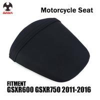 Motorcycle Street Bike Rear Passenger Cushion Leather Seat Cover For SUZUKI GSXR600 GSXR750 GSXR 600 750 2011 2012 2013-2016