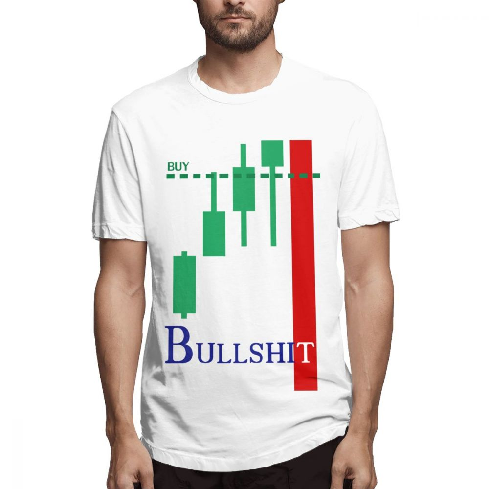 Pure Cotton Geek Day Trade Investment Forex Stock Market T Shirt Novelty Candlestick Chart 100% Cotton T-Shirt image