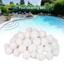 200/500/700g branco bolas de filtro piscina bolas de limpeza piscina equipamento de limpeza filtro purificação de água fibra algodão bola