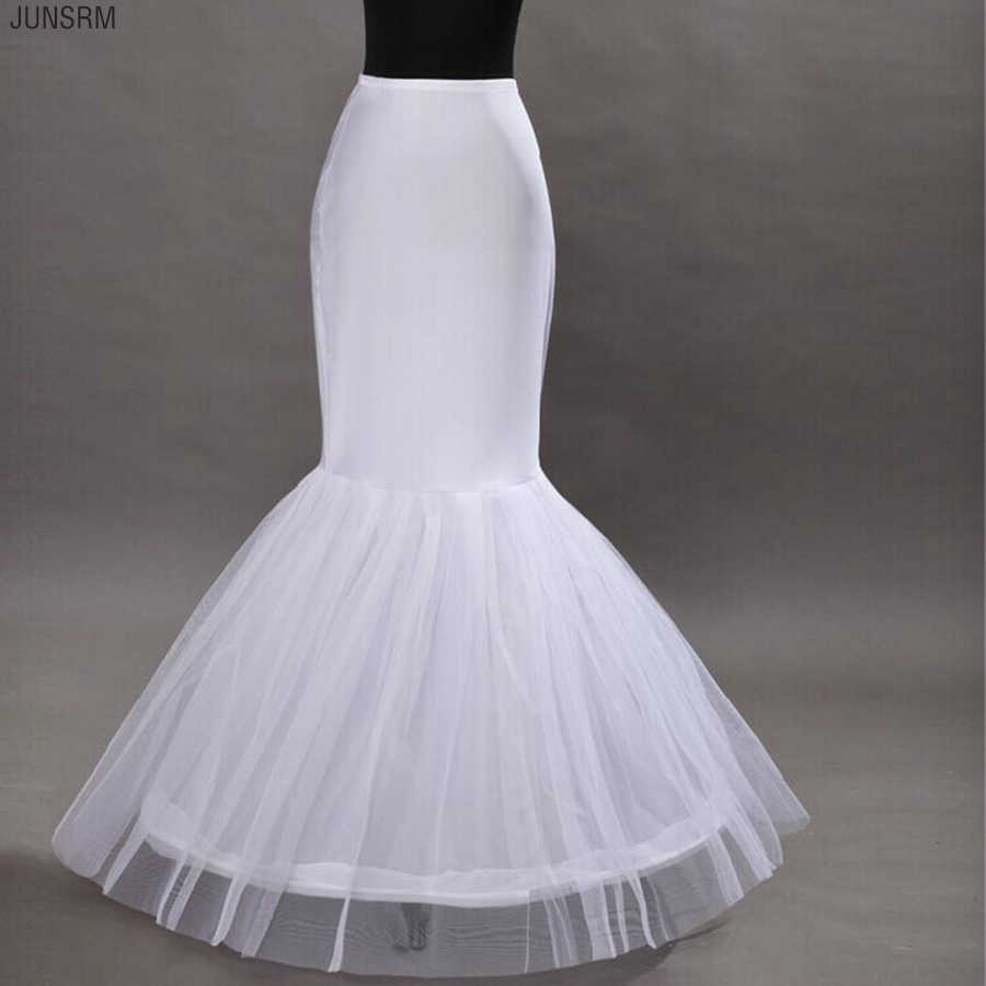 Latest Free Shipping Wedding Mermaid Petticoats 1 Hoop Bone Elastic Dresses Crinoline Trumpet Bridal Accessories Fashion
