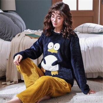 M-5XL Flannel Pajamas Women Plus Fat Plus Size Loose Thick Coral Fleece Home Service Suit Autumn and Winter Fat Mm200 Kg E26 m style диван coral