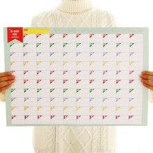 2021 calendário 100 dias de contagem regressiva calendários programação de aprendizagem planejador periódico agenda organizador para crianças estudo planejamento aprendizagem
