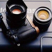 Perfect Fit For Fuji Fujifilm X T3 XT3 X T2 XT2 Walnut Handmade Wooden Hand Grip Holder Quick Release L Plate VerticaL Bracket