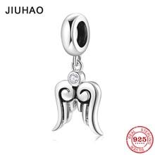 Wings from heaven 925 Sterling Silver pendants Beads Fit Original Pandora Charm Bracelet bangles Jewelry making