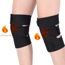 1 Pair Tourmaline Self-heating Kneepad Magnetic Therapy Knee Support Brace Belt Massager Pad Sleeve