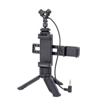 Comica CVM-MT-K1 Video Kit with Stereo Video Microphone, Tripod Mount, Handheld Phone Holder for DJI Osmo Pocket(TRS 3.5mm Jack)