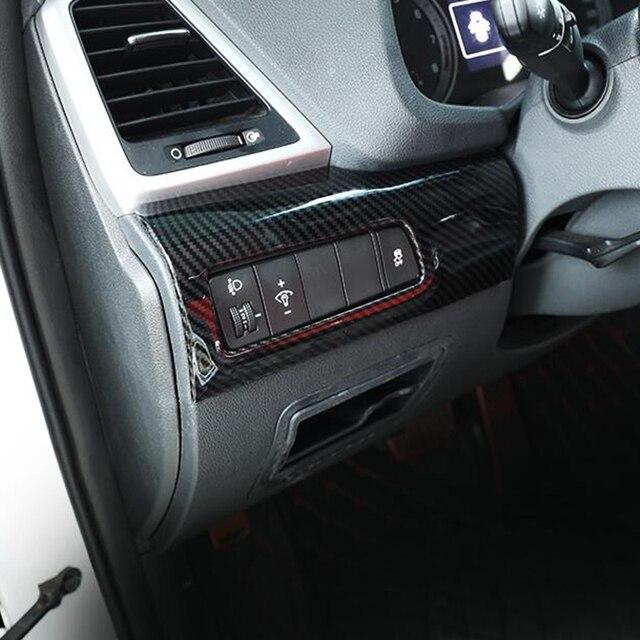 Для hyundai tucson 2019 abs углеродное волокно автомобильный