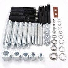 100sets Inner Diameter 3.5mm/4mm/5mm/6mm/8mm/10mm/12mm/14mm/17mm, Rivet Manual metal Knocking & Punching Eyelets install Tool.