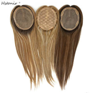 Hstonir Toppers Hair Toupee Fall Women European Kosher Jewish Highlight for Wig Toper/tp30