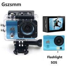 Gszsmm caméra daction 1080P Wifi plongée surf étanche caméra vélo moto équitation sous marine 4K Sport caméra