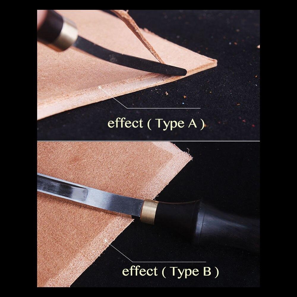 Professional Ebony blackwood Leather craft Edge Bevelers D2 Steel Edger Tools