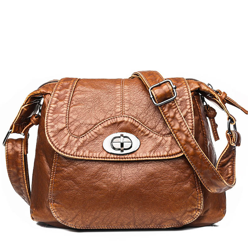 Winter Designer Women Messenger Bags Crossbody Soft PU Leather Shoulder Bag High Quality Vintage Women Bags Handbags Sac A Main