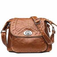 Winter Designer Women Messenger Bags Crossbody Soft PU Leather Shoulder Bag High Quality Vintage Women Bags Handbags Sac A Main