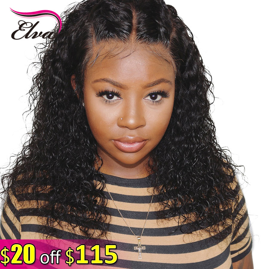 Elva Hair Short Bob 13x6 Lace Front Human Hair Wigs 150% Density Curly Pre Plucked With Baby Hair Remy Hair Wigs For Black Women