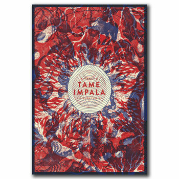 Dome Impala psicodélico roca caliente pared pegatina tela de seda póster arte decoración interior brillante