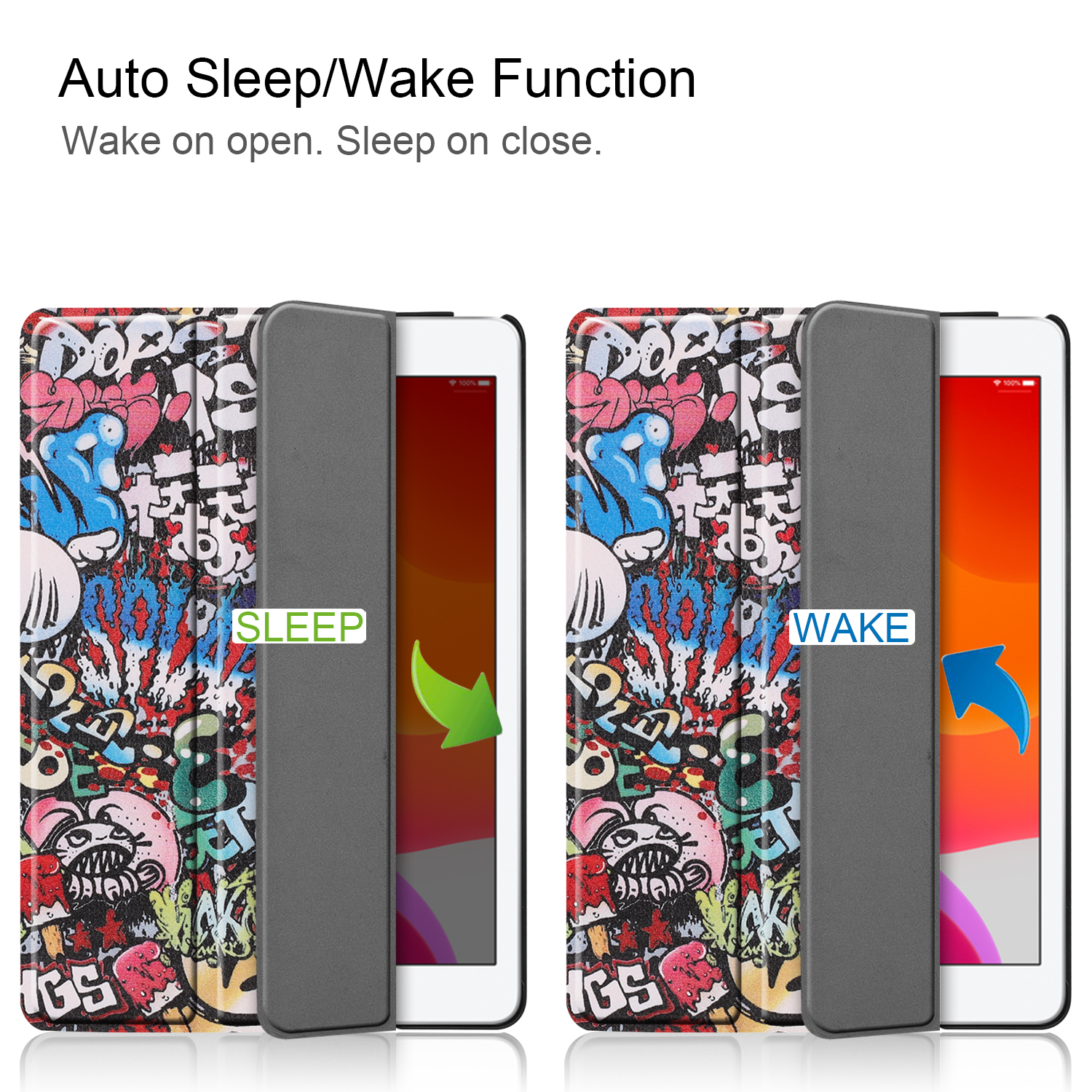 Case Apple iPad Magnetic iPad/8th/Cas 8-8th-Generation for Smart-Cover A2428/a2429 Sleep