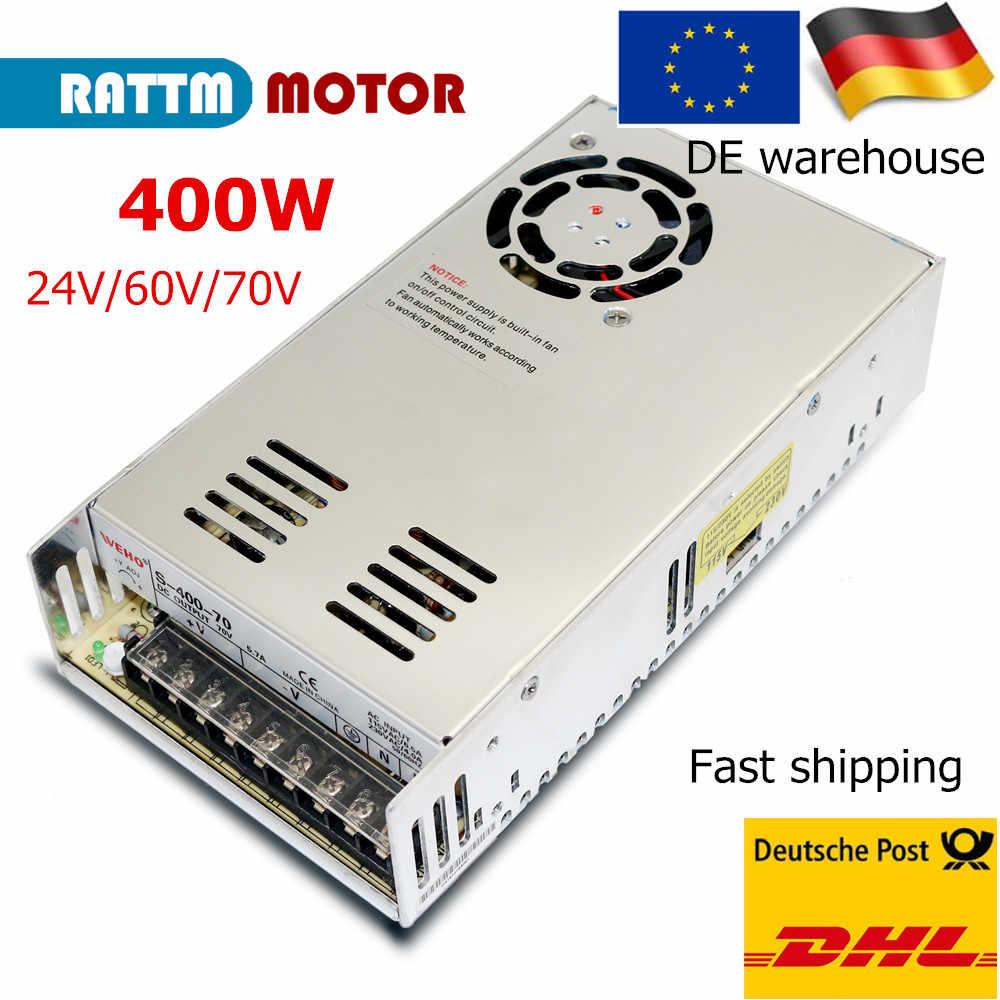 『DE』DC 70V 5.7A 400W Switching Power Supply For CNC//12N 8N Servo Motor//LED Strip