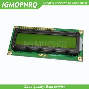 1 Uds LCD1602 LCD 1602 Pantalla amarilla con retroiluminación pantalla LCD 1602A-5v