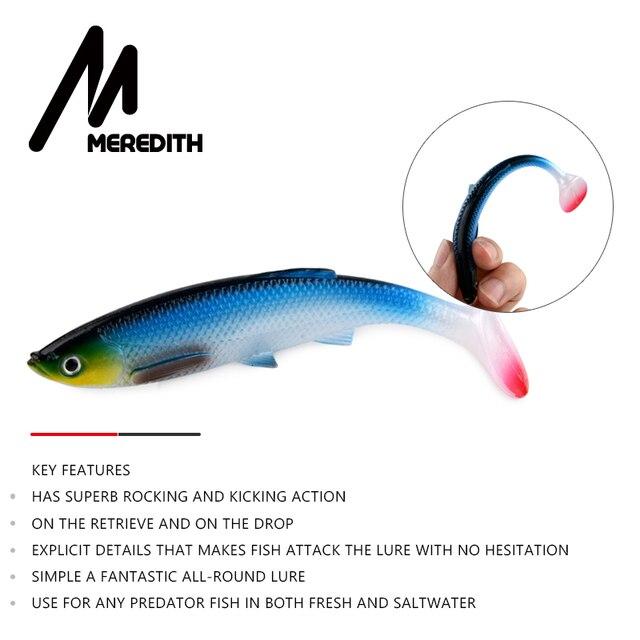 MEREDITH Bleak Paddle Tail – 120mm 4kpl