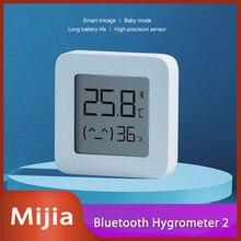 2020New نسخة Mijia بلوتوث ميزان الحرارة 2 اللاسلكية الذكية الكهربائية مقياس الرطوبة الرقمي ميزان الحرارة الرطوبة الاستشعار المنزل
